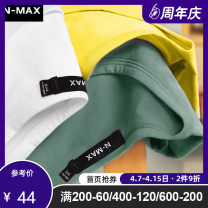 T-shirt Youth fashion routine XL 2XL 3XL 4XL 5XL 6XL N-MAX Short sleeve Crew neck easy Other leisure summer 8NT399 Cotton 93.4% polyurethane elastic fiber (spandex) 6.6% Large size routine tide Cotton wool Summer of 2018 Solid color other Pure e-commerce (online only)