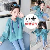 Sweater / sweater Other / other female 100cm,110cm,120cm,130cm,140cm,150cm,160cm spring and autumn No detachable cap Korean version Socket routine There are models in the real shooting cotton Solid color Other 100% Q018 Class B