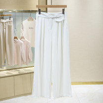 Casual pants white S,M,L,XL,2XL Summer 2021 trousers Wide leg pants Natural waist Versatile 25-29 years old 1E2235