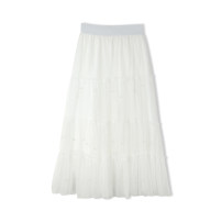 skirt Spring 2021 Average size Black, apricot, white Mid length dress commute High waist High waist skirt Solid color Type A 25-29 years old A1884 Other / other