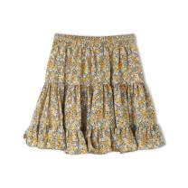 skirt Spring 2021 Average size Yellow, blue, green, red, light blue, light pink Short skirt High waist A-line skirt Broken flowers Type A 25-29 years old A1890 More than 95% Other / other polyester fiber