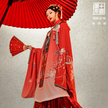 Hanfu 96% and above Winter 2020 Velcro Lapel vertical dress with two pairs of dark pink and light pink S / 155 spot M / 160 spot L / 165 spot XL / 170 spot average / spot s / 155 presale M / 160 presale L / 165 presale XL / 170 presale average / presale polyester fiber
