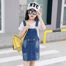Dress One piece denim skirt female Other / other 110cm 120cm 130cm 140cm 150cm 160cm 170cm Other 100% spring and autumn Korean version Strapless skirt Denim skirt Class B