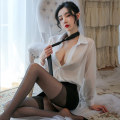 Dress Spring 2020 White + Black One size fits all with tie (80-120kg), matching with black open end stockings and meat open end stockings Other / other