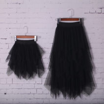 skirt Other / other female Cotton 90% other 10% spring and autumn skirt Solid color Cake skirt cotton
