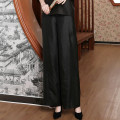Casual pants black Summer of 2018 trousers Wide leg pants Natural waist commute routine 25-29 years old 96% and above silk literature silk