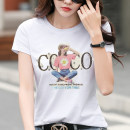 T-shirt White, blue, black, green, orange S,M,L,XL,2XL,3XL Summer 2021 Short sleeve Crew neck Self cultivation Regular routine commute cotton 96% and above Korean version originality Letters, characters Pinge Dixin printing