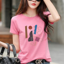 T-shirt white , blue , black , green , orange , Pink S,M,L,XL,2XL,3XL Summer 2021 Short sleeve Crew neck Self cultivation Regular routine commute cotton 96% and above Korean version originality letter Pinge Dixin printing