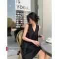 Dress Summer 2020 black S,M,L 31% (inclusive) - 50% (inclusive) cotton