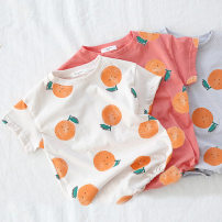 Jumpsuit / climbing suit / Khaki currency cotton Other / other Class A summer Short sleeve Trigonometry leisure time No model in real shooting nothing Condom Lemon climbing suit 3 months, 6 months, 12 months, 18 months, 2 years old, 9 months Light blue, beige, orange 66cm,73cm,80cm,90cm,100cm