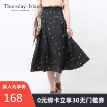 skirt Summer 2016 26/S 27/M Beige charcoal chalcoat Mid length dress grace Natural waist other other 25-29 years old T162MSK132W More than 95% other THURSDAY ISLAND cotton Cotton 100% Same model in shopping mall (sold online and offline)