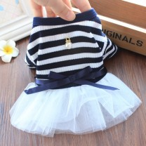 Pet clothing / raincoat currency Dress XS - about 1.5-2 kg, s - about 2.5-3.5 kg, M - about 4-5.5 kg, L - about 6-8 kg, XL - about 8.5-11 kg Other / other princess Pearl Pendant skirt - Navy bar, pearl pendant skirt - coffee bar cotton