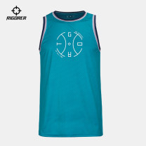 Sports T-shirt Rigorer / quasi 110 120 130 140 150 160 Sleeveless For men and women Crew neck easy ventilation Spring 2020 Brand logo pattern Sports & Leisure Sports life yes