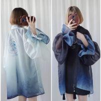 Dress Summer of 2018 S,M,L,XL,2XL Long sleeves street Loose waist God of War