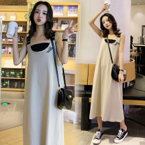 Dress Other / other Picture color [now order for the same bra] M,L,XL,XXL Korean version Sleeveless Medium length summer other Pure cotton (95% and above)