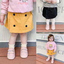 skirt 66cm,73cm,80cm,90cm,100cm,110cm Black, yellow LINLINMA female Cotton 100% spring and autumn skirt Korean version Solid color other LH20018 Class A