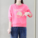 T-shirt Blue, pink, orange, white S,M,L,XL,2XL Spring 2021 Long sleeves Crew neck Straight cylinder have cash less than that is registered in the accounts routine commute cotton 71% (inclusive) - 85% (inclusive) 25-29 years old Korean version classic Letters, shoe bags / accessories Other / other