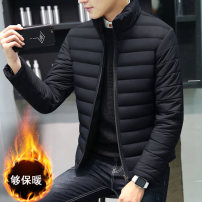 cotton-padded clothes 6665 black, 6665 red, 6665 blue, 6666 black, 6666 red, 6666 blue Tagkita / she and others M,L,XL,2XL,3XL,4XL Youth fashion thickening routine standard Other leisure Polyester 100% stand collar youth zipper Exquisite Korean style silk floss Cloth hem Solid color Zipper bag