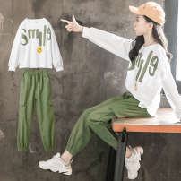 suit Other / other white The recommended height is about 115 for 120 yards, 125 for 130 yards, 135 for 140 yards, 145 for 150 yards, 155 for 160 yards and 162 for 170 yards female spring and autumn Korean version Long sleeve + pants 2 pieces routine There are models in the real shooting Socket other