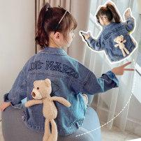 Plain coat Other / other female 110cm (110cm) hot spot, 120cm (120cm) hot spot, 130cm (130c) hot spot, 140cm (140cm) hot spot, 150cm (150cm) hot spot, 160cm (160cm) hot spot Flower jeans jacket, printed jeans jacket, blue bear jeans jacket, hooded jeans jacket, black bear jeans jacket Korean version