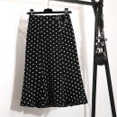 skirt Summer 2021 S,M,L,XL,2XL,3XL,4XL Black, polka dot Mid length dress commute High waist Ruffle Skirt Dot Type A 25-29 years old 2021/105 51% (inclusive) - 70% (inclusive) other Other / other other Three dimensional decoration, stitching, elastic waist Korean version