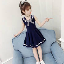 Dress Bkx905 Navy, bkx905 pink, bkx905 red, pink 05, white 05, orange 08, green 08, pink 09, white 09 female Other / other 110cm,120cm,130cm,140cm,150cm,160cm,170cm Polyester 100% No season lady Solid color polyester fiber A-line skirt Class A 10, 11, 12, 13, 14, 3, 4, 5, 6, 7, 8, 9