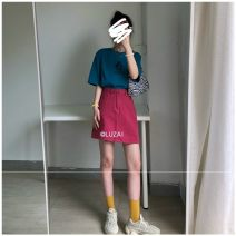 skirt Summer 2020 S [80-95 kg], m [95-105], l [105-115 Jin], XL [115-125 Jin], 2XL [125-140 Jin], 3XL [140-160 Jin], 4XL [160-180 Jin], 5XL [180-200 Jin] claret Short skirt Retro High waist A-line skirt Solid color Type A 18-24 years old 51% (inclusive) - 70% (inclusive) Denim Button, zipper