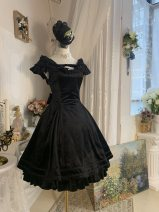 Lolita Dress White shawl (to be supplemented), black shawl (to be supplemented), black velvet jsk dress (to be supplemented), black top hat (to be supplemented) One size fits all, XS, s, m, l, XL Customized Fuyan Pavilion rabbit 's hair