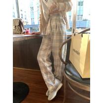 Casual pants Black coffee, orange blue S,M,L Spring 2021 trousers Straight pants High waist commute routine 31% (inclusive) - 50% (inclusive) 3.8-F-C21K2460 FAIRYPAN other Korean version