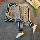 suit Other / other Gray, black, white male spring and autumn leisure time Long sleeve + pants 2 pieces routine There are models in the real shooting Socket nothing other other children Expression of love 21C-TZ01 Class B Other 100% Chinese Mainland