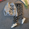 suit Other / other Gray, white, black male spring and autumn leisure time Long sleeve + pants 2 pieces routine There are models in the real shooting Socket nothing Cartoon animation other children Expression of love 21C-TZ09 Class B Other 100% Chinese Mainland
