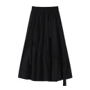 skirt Summer 2021 Average size White, black Mid length dress Sweet High waist other Solid color 18-24 years old 31% (inclusive) - 50% (inclusive) other