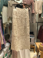 skirt Spring 2021 S,M,L,XL Apricot, pink Mid length dress commute High waist other Solid color 25-29 years old 51% (inclusive) - 70% (inclusive) other other Hollow, lace