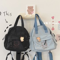 Backpack Nylon  Other / other brand new Mini zipper campus Japan and South Korea youth Cartoon animation Vertical square Zipper bag, mobile phone bag, certificate bag printing 8 inches Three dimensional bag