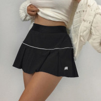 skirt Spring 2021 S,M,L White, black Short skirt Versatile High waist A-line skirt Type A AMD6892W0I 31% (inclusive) - 50% (inclusive) polyester fiber