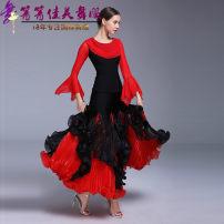 Modern dance suit (including performance clothes) Qingqing Jiamei Dance Dress Waltz, tango, Foxtrot, trot female gules S,M,L,XL,XXL,XXXL other