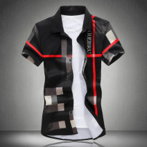 shirt Fashion City Others M,L,XL,XXL,XXXL,4XL,5XL 19207 as shown, 19208 as shown, 19206 as shown, 18111 as shown, 19201 gray, 19201 red, 19201 khaki, 19201 blue, 19202 red bar, 19202 yellow bar, 19202 gray bar, 19203 as shown routine square neck Short sleeve Self cultivation daily summer Large size