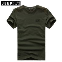 T-shirt Fashion City thin Jeep / Jeep Short sleeve Crew neck easy daily summer Other 100% youth routine tide Sweat cloth 2020 Solid color Embroidered logo cotton Brand logo No iron treatment International brands More than 95%