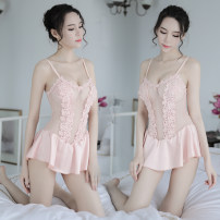 Nightdress Angel of tenderness Average size sexy camisole pajamas Middle-skirt spring Solid color youth Polyester (polyester) 81% (inclusive) - 95% (inclusive) Composite fabric 200g and below