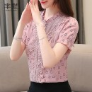 shirt Picture color S,M,L,XL,2XL Summer of 2019 other 51% (inclusive) - 70% (inclusive) Short sleeve commute Regular stand collar Three buttons Self cultivation Korean version