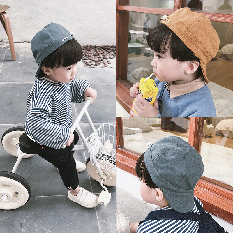 Hat Average size Ginger grey 1-4 years old neutral peaked cap dome leisure time Other / other Short eaves BBL0072 Autumn of 2018