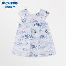 Dress Blue printing female Mesamis / momomi 80cm 90cm 100cm 110cm Cotton 100% summer lady Skirt / vest other cotton A-line skirt 282GWQ44 other Summer of 2019 12 months 18 months 2 years 3 years 4 years