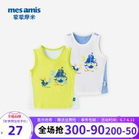 Vest sling Sleeveless summer Mesamis / momomi male No model in real shooting motion other Crew neck nothing Pure cotton (95% and above) Cotton 98% polyurethane elastic fiber (spandex) 2% 202BSD04 Class B 12 months 18 months 2 years 3 years 4 years 5 years 6 years 7 years old Summer 2020 White green