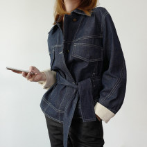 short coat Spring 2020 XS,S,M,L,XL Wash blue Long sleeves routine routine singleton  Bat type commute Bat sleeve tailored collar Single breasted Solid color 25-29 years old Other / other 96% and above DQH0722 cotton cotton