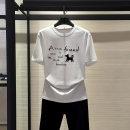 T-shirt white 2 / s, 3 / m, 4 / L, 5 / XL Spring 2020 Short sleeve Crew neck Straight cylinder Regular routine commute modal  31% (inclusive) - 50% (inclusive) Xgirdearst / heathy