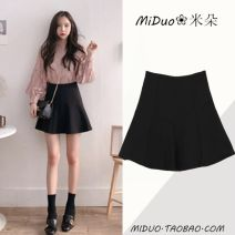 skirt Summer of 2018 S,M,L,XL black Short skirt commute High waist Umbrella skirt Solid color Type A 18-24 years old NRJ-502-B-30#6002 31% (inclusive) - 50% (inclusive) other Other / other polyester fiber Ruffles, zippers Korean version
