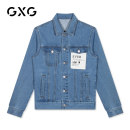 Jacket GXG Youth fashion blue routine standard Other leisure autumn Cotton 100% Long sleeves Wear out Lapel tide youth routine Closing sleeve Denim cotton More than 95%