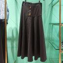 skirt Autumn of 2019 1/XS,2/S,3/M,4/L,5/XL Black, deep Khaki Mid length dress commute Natural waist Irregular Solid color Type H 1200154-330511-001 91% (inclusive) - 95% (inclusive) Xgirdearst / heathy nylon Button Korean version