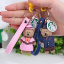 Key buckle 520 ornaments Pink lotus root light green Navy silica gel Couple series one thousand eight hundred and eighty-eight Cartoon 70G