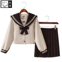 Cosplay women's wear suit goods in stock Over 14 years old Long sleeve milk tea JK suit (with bows and black socks), short sleeve milk tea JK suit (with bows and black socks) comic L,M,S,XL,XXL Baize (animation) Chinese Mainland Love Live! Tojo hee JK2011